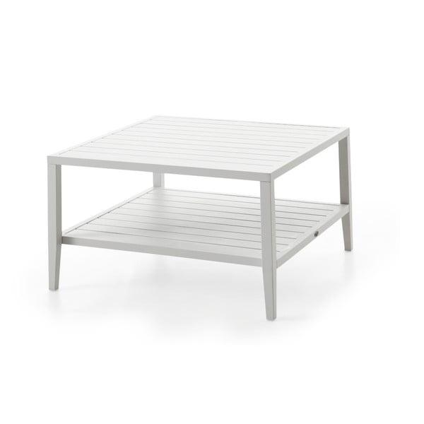Bílý zahradní stolek Brafab Chelles, 90x90cm