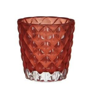 Stojan na svíčku Bent Red, 8 cm