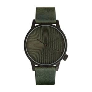 Pánské tmavě zelené hodinky s koženým řemínkem Komono Deco