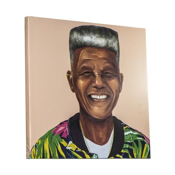 Obraz Nelson Mandela, 80x80 cm