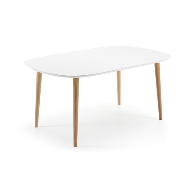Rozkládací jídelní stůl z bukového dřeva La Forma Oakland, délka160-260cm