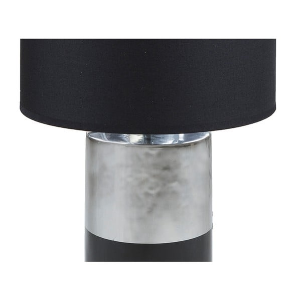 Černá stolní lampa se základnou ve stříbrné barvě Santiago Pons Reba