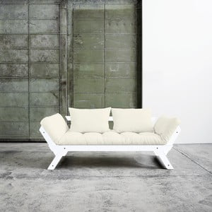 Canapea extensibilă Karup Bebop White/Natural