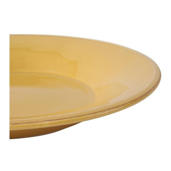 Farfurie supă din ceramică Côté Table Const, ⌀27 cm, galben