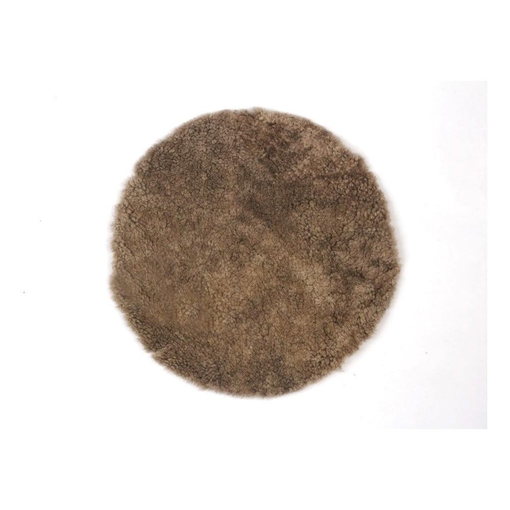 Vlněný polštář z ovčí kožešiny Auskin Batair, ∅ 35 cm