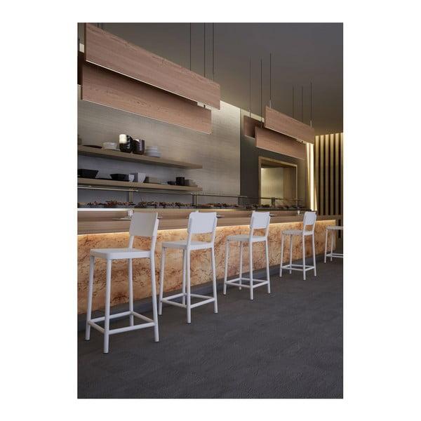 Sada 2 bílých barových židlí vhodných do exteriéru Resol Lisboa Simple, výška 92,2 cm