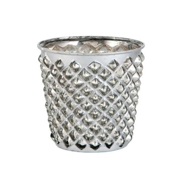 Svícen Studs Silver, 10x10x10x cm