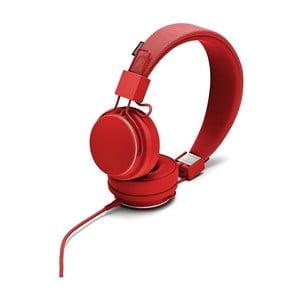 Červená sluchátka s mikrofonem Urbanears PLATTAN II Tomato