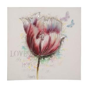 Ručně malovaný obraz Mauro Ferretti Tulip, 80x80cm