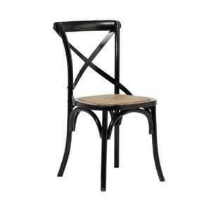 Sada 2 černých jídelních židlí Interstil Vintage