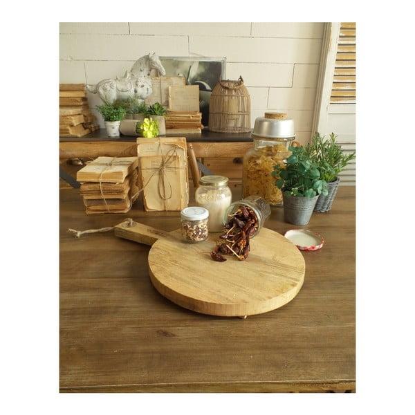 Krájecí a servírovací prkénko z mangového dřeva Orchidea Milano Vintage Wood Round