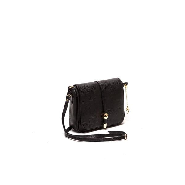 Černá kožená kabelka Ariela