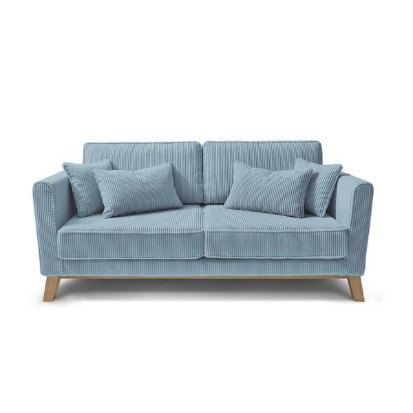 Canapea cu 3 locuri Bobochic Paris DOBLO, albastru deschis