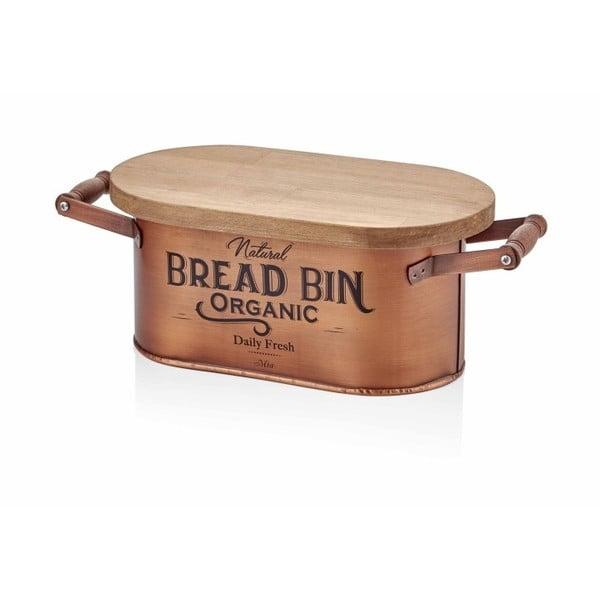 Bread réz színű kenyértartó, hossza 41 cm - The Mia