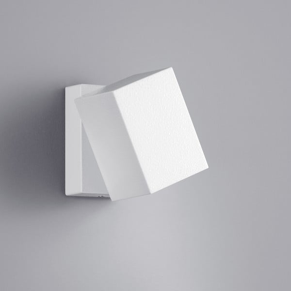 Venkovní nástěnné světlo Tiber White, 10 cm