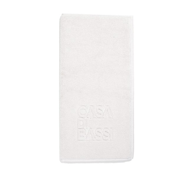 Bílá bavlněná koupelnová předložka Casa Di Bassi Basic,50x70cm