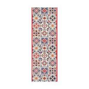 Červený běhoun White Label Mosaic, 100 x 65 cm