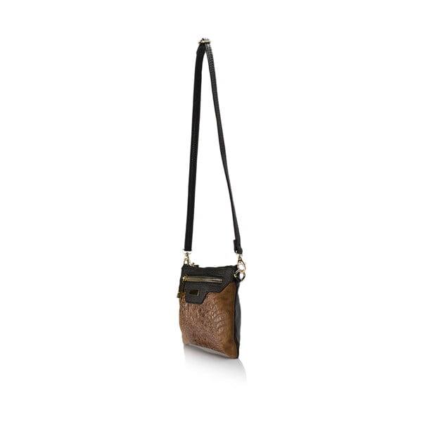 Kožená kabelka Croco, koňaková