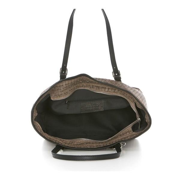 Tmavě béžová kožená kabelka Federica Bassi Alya