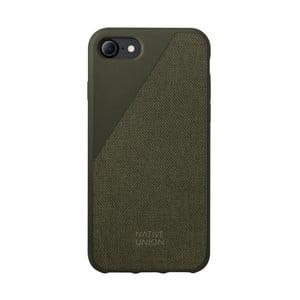 Tmavě zelený obal na mobilní telefon pro iPhone 7 a 8 Native Union Clic Canvas Case
