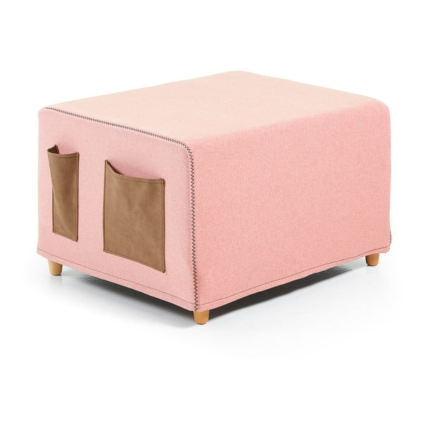 Ružová rozkladacia posteľ La Forma Kos, 70 x 180cm
