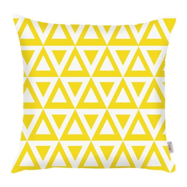 Žltá obliečka na vankúš Apolena Triangle, 43×43 cm