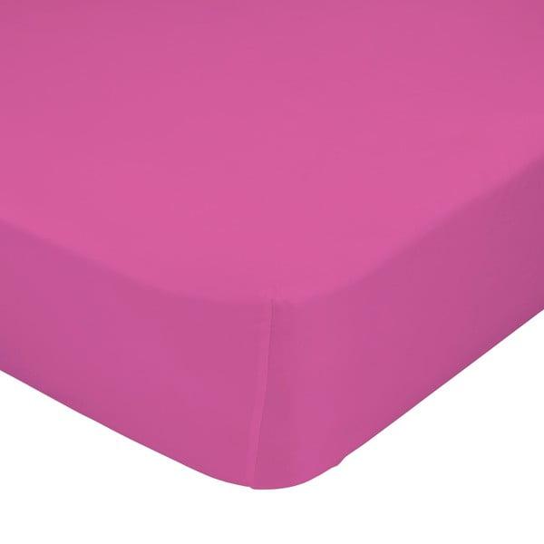 Růžové elastické prostěradlo Happynois, 60x120cm