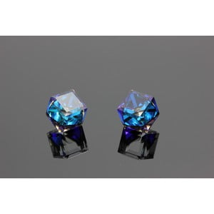 Náušnice Swarovski Elements Beatiful Bermuda Blue