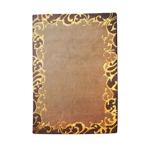 Ručně vyráběný koberec The Rug Republic Norfolk Brown Gold, 160 x 230 cm