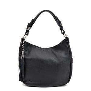 Černá kožená kabelka AnnaLuchini Noemi