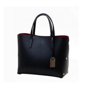 Černá kabelka z pravé kůže Andrea Cardone Dettalgio