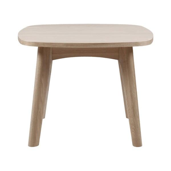 Odkládací stolek s podnožím z dubového dřeva Actona Martel,⌀58cm