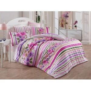 Lenjerie de pat cu cearșaf Carolin Two, 200 x 220 cm