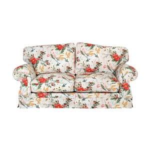 Canapea 3 locuri, înflorată,  Max Winzer Mina, roșu-alb