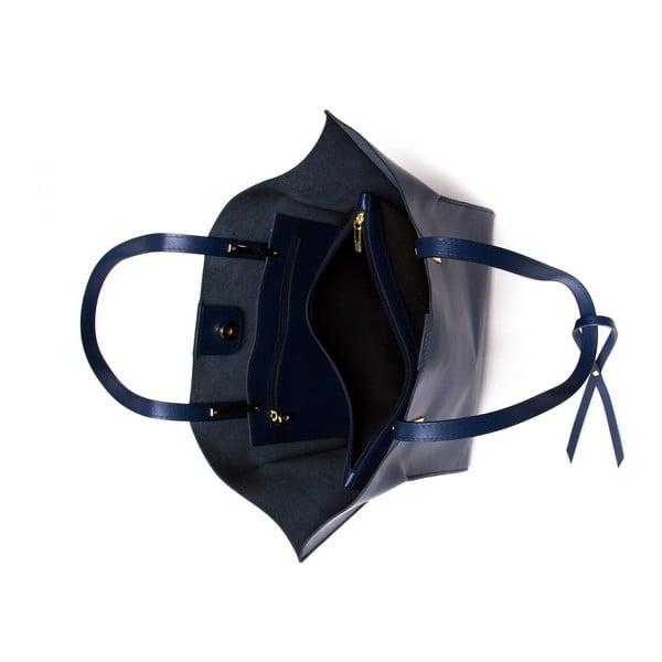 Kožená kabelka Mangotti 388 Blu