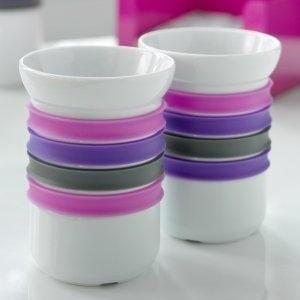 Sada 2 porcelánových hrnků na čaj Steel Function Porto, 200 ml
