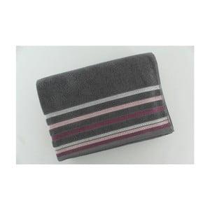 Set 2 osušek Grey Purple, 70x140 cm