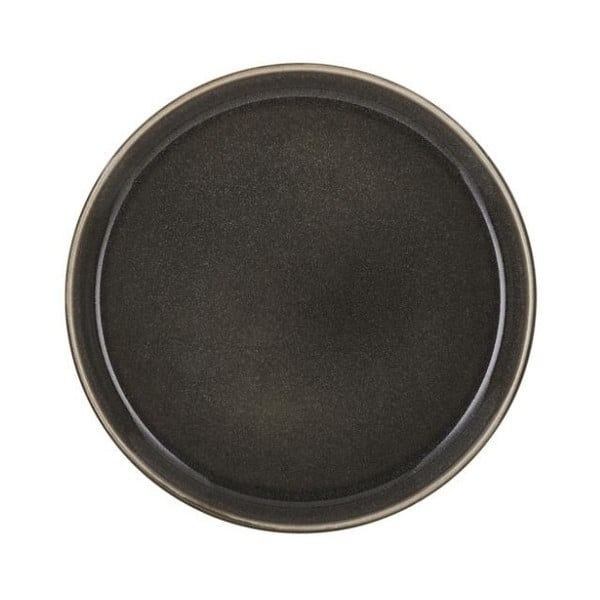 Tmavě šedý kameninový mělký talíř Bitz Mensa, průměr 21 cm