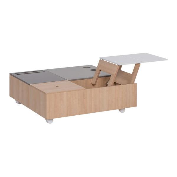 Multifunkčný konferenčný stolík nakolieskach s úložnými priestormi Vox Custom