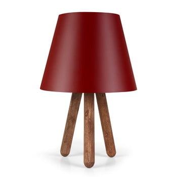 Veioză cu picioare din lemn Kira, roșu