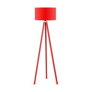 Stojací lampa s červeným stínítkem Kate Louise Redish
