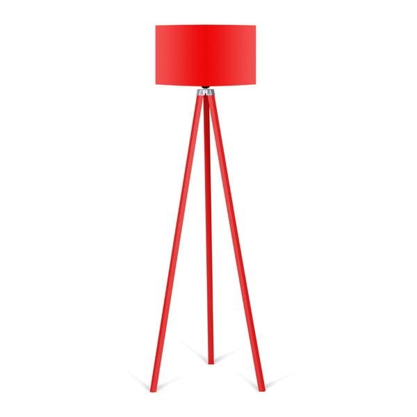 Lampa stojąca z czerwonym abażurem Kate Louise Redish