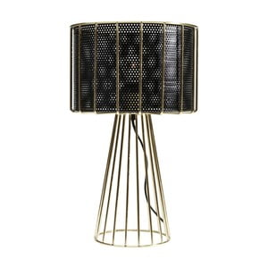 Veioză Kare Design Wire, negru-auriu