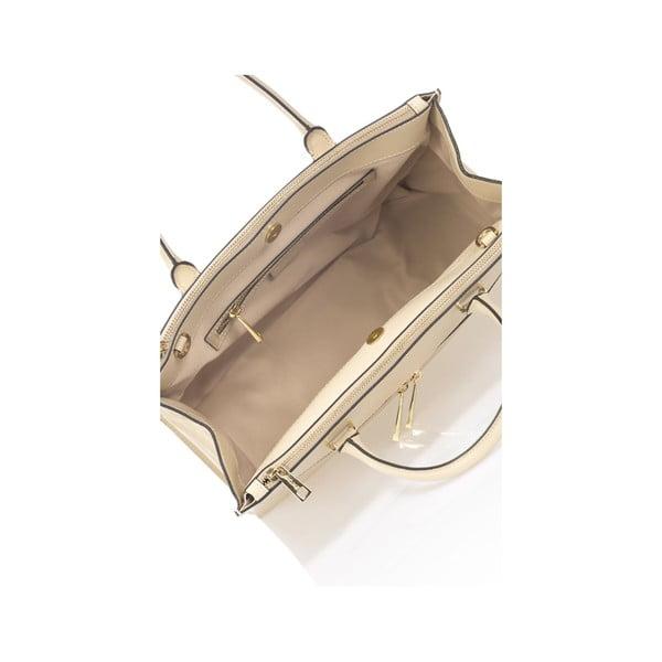 Béžová kožená kabelka Krole Kate