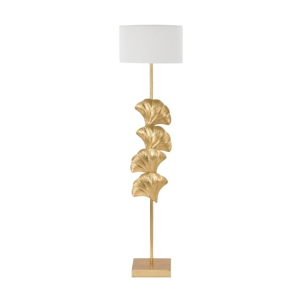 Volně stojící lampa MauroFerrettiGlamy v bílé a zlaté barvě
