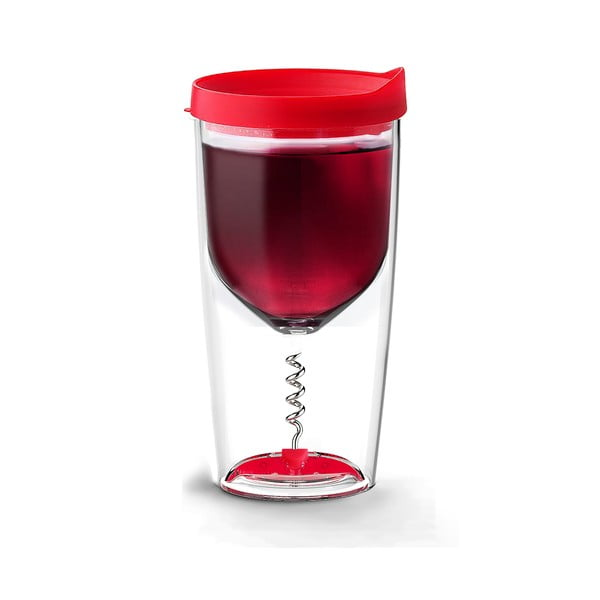 Termoska na víno s vývrtkou Vino Opener Red