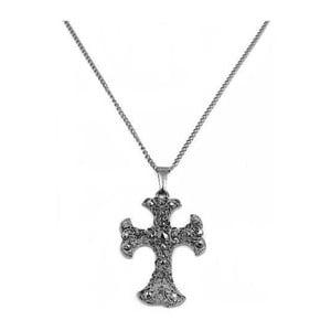 Náhrdelník Hematite Cross