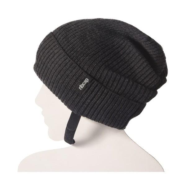 Antracitová čepice s ochrannými prvky Ribcap Lenny, vel. L