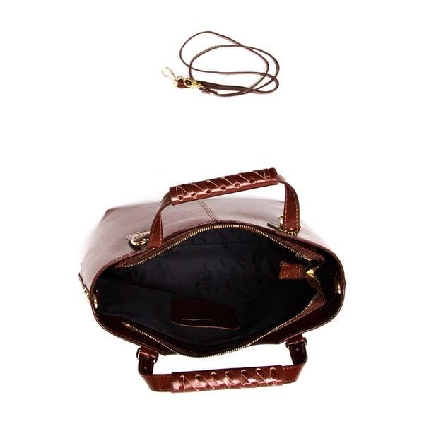 Kožená kabelka Luisa Vannini 3006, čokoládově hnědá