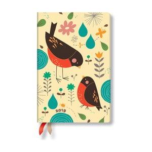 Agendă pentru anul 2019 Paperblanks Mother Robin, 9,5x14cm